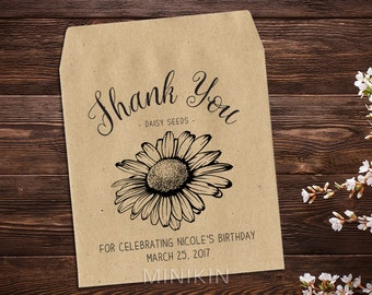Birthday Favour, Seed Packets, Personalized Birthday, Seed Packet Favor, Seed Favor, Birthday Favor, Birthday Seed Favor x 25