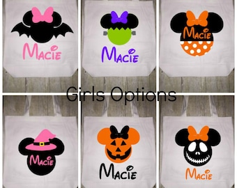Disney Halloween Trick or Treat Bag Tote Girls