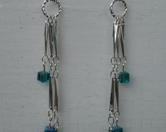 Handmade Silver and Turquoise Earrings