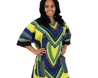 Africa Traditional Heart Of Africa Dashiki - Yellow