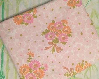 Pequot Twin / Double flat - Double - Pink bouquets