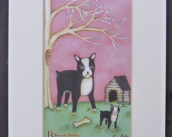 Boston Terrier dogs reproduction  free shipping