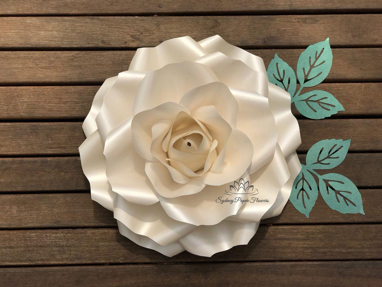 LARGE ROSE Flowers Template & VIDEO tutorial/Paper flower