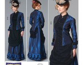 Victorian Steampunk Drape Front Skirt Top Boned Bodice Making History Nancy Farris-Thee Butterick 6305 FF Sizes 16-24 Women's Sewing Pattern