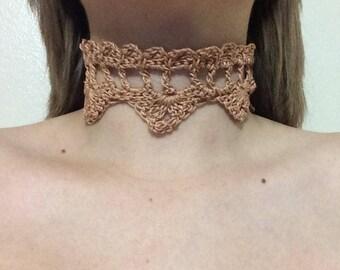 Handmade Crochet Choker Necklace
