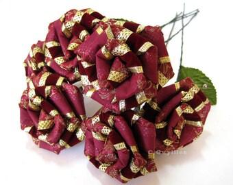 Holiday Burgundy Velvet Rose Bouquet