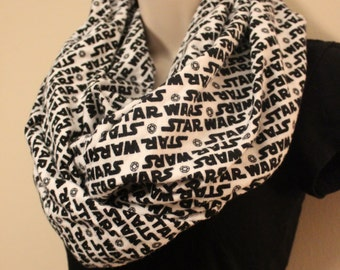 Star Wars Black and White Flannel Infinity Scarf