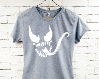 Venom Movie Gray T-Shirt For Women