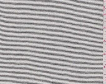 Ecru/Black Pinstripe Sweater Knit, Fabric By The Yard