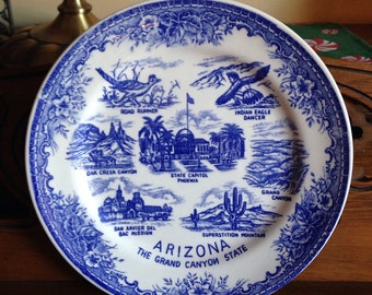 Arizona State Souvenir Plate