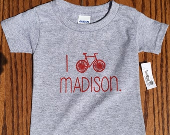 Toddler tshirt i Bike Madison