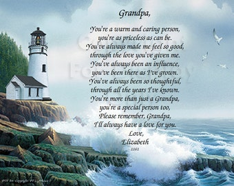 5 GRANDFATHER personalized gifts keepsakes (Request a custom order and have something made just for you)