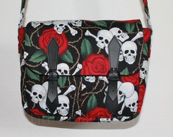 Hobo 'Death' Roses ' cotton with pockets