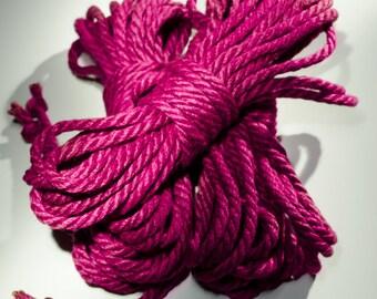 Jute Rope Kit for Shibari / Kinbaku - Hot Pink / Magenta
