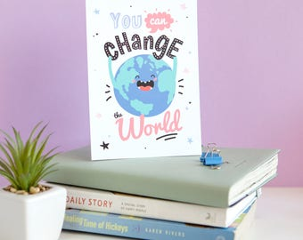 Greeting Card • Illustrated Card • Motivational postcard