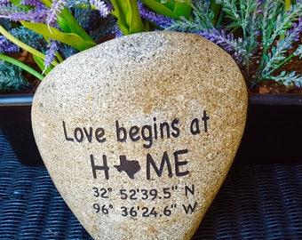 New House Gift - Address Rock - Garden Decor Rock - Housewarming Gift - Address Garden Stone - Garden Art - God Rocks - First Home Gift -