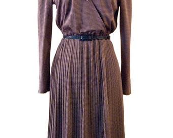 Purple jersey pleated dress