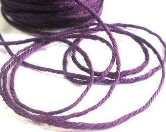 5 m 2mm dark purple hemp cord