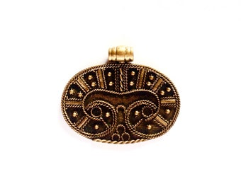 Bronze Lunula VIKING KRISTALL Pendant