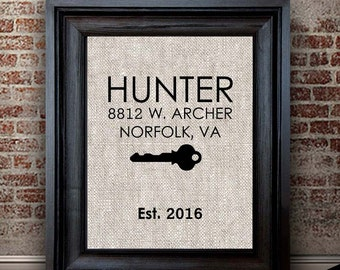 New Home Gift | Family Home Sign | Housewarming Gift for Family Couple | Wall Decor | First Home Gift | Real Estate Closing Gift