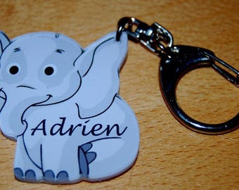 elephant Keychain personalized name or Word of your choice