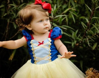 SNOW WHITE dress,  girls princess dress, Snow White costume, Snow White TUTU dress style costume