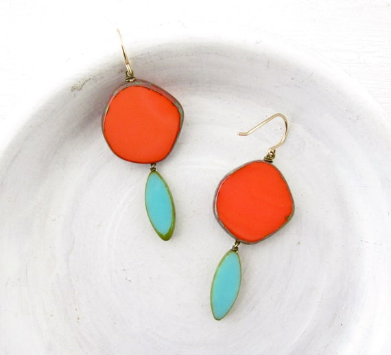 WHOLESALE LISTING // Hue Earrings - Coral // EHC