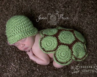 turtle baby outfits, newborn photo prop, turtle baby shower gift, gender neutral baby gift, kids sea crochet baby outfit, Spring baby