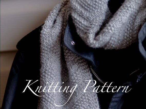 Beckenham Scarf - Knitting pattern - Mens scarf - Reversible design ...