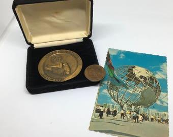 "1964-1965 World's Fair Memorabilia - RCA Exhibit New York World's Fair - RCA logo ""His Master's Voice"" - Nipper RCA Medal"