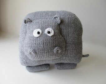 Hippo Cushion Knitting Patterns