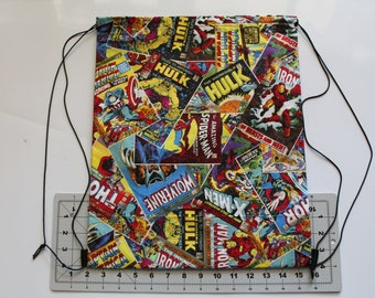 Comic Book Drawstring Backpack
