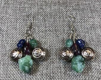 Artisan made drop earrings