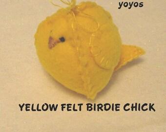 YELLOW, FELT, BIRDIES,  Set of Four,  Chicks,  Easter,  Spring,  Holiday Decor,  Home Décor, Table Decor, Hostess Gift, Birthday, Shower