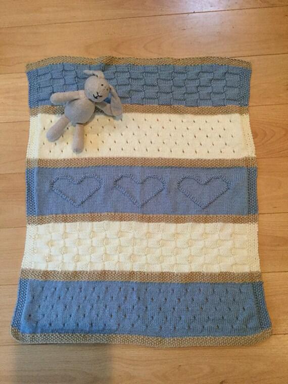 Baby Blanket Pattern Knit Baby Blanket Pattern Heart Baby