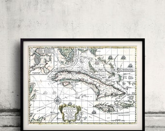 Map of The island of Cuba - 1762 - SKU 0143