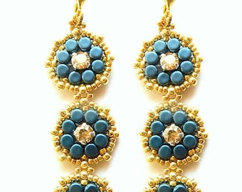 Maggie earrings - instant download beading pattern