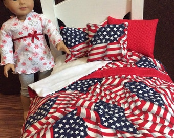 """American Girl, Our Generation  18 inch 18 """"Doll Bedding USA"""""""