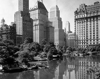 Central Park Lake New York 1930's Photo