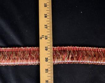 300705 2703 Red Pink Brown Brush Fringe Trim