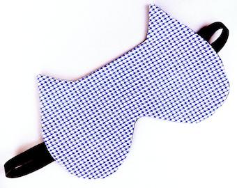 Sleep Mask, Cat Sleep Mask for Men, Women, Cat, Blue, White, Eyewear, Eye Mask, Travel Sleep Mask, Sleeping masks, Blue sleep mask, Gift