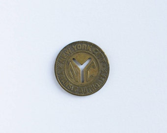 "1953 ""Small Y"" NYC New York City Subway Token NYCTA MTA Transit Authority"