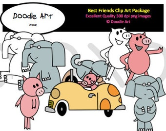 Piggie and Elephant Mega Clipart Pack