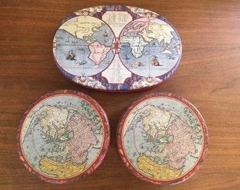 World Map Tins