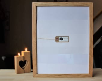 11x14 Oak frame - Wooden photo frame - for pics 14x11 - custom wood frames