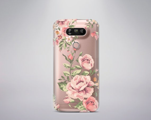 Lg G5 Case Floral LG G4 case LG G5 Case Clear Floral LG G4 case Clear Transparent Silicone Note 7 Case Clear Samsung S7 case Samsung S8 Case