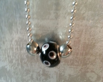 Beaded ball chain necklace