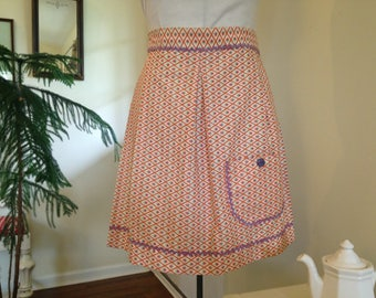 Half Apron with Pocket Frilly 1950s Style