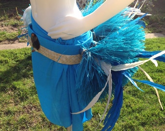 Tahitian And Cook Island Ori Hip Band Or Hip Hei...Choose Any Color Of Hau And Feathers