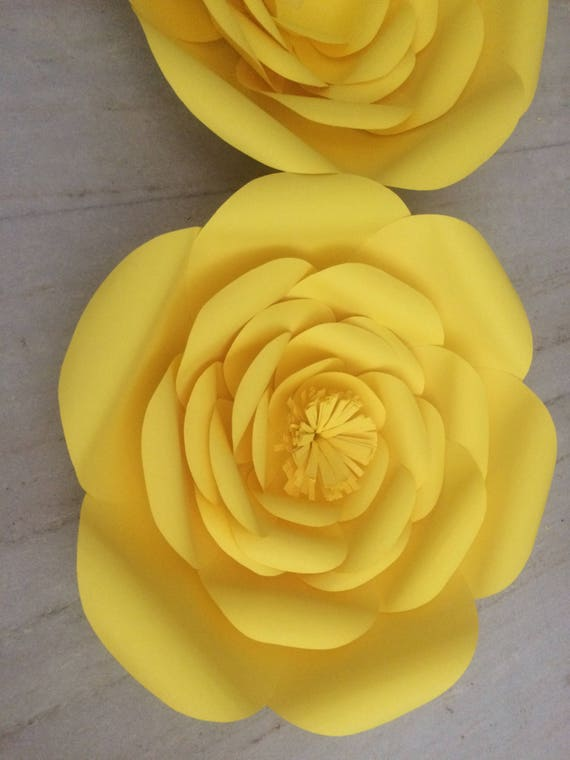 Paper flowers handmade paper flowers large paper floers like this item mightylinksfo Gallery
